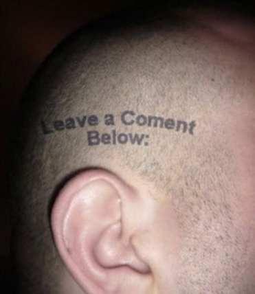 Tatuaggio Nerd - Leave a Coment Below - Lega Nerd