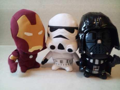 Iron Man, Trooper, Darth Vader
