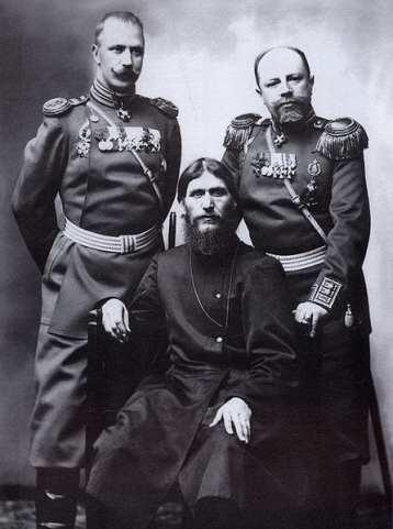 Rasputin con il Generale Putyatin ed il Colonnello Lotman