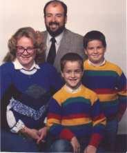 Mom, Dad, Brandon & Brett 1987