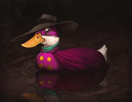dark wing duck