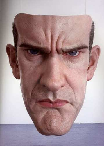 Ron Mueck - mask (Self Portrait)