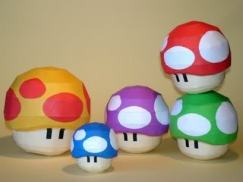 Funghetti Super Mario Papercraft