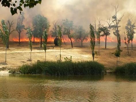 incendio en Butarque Leganés