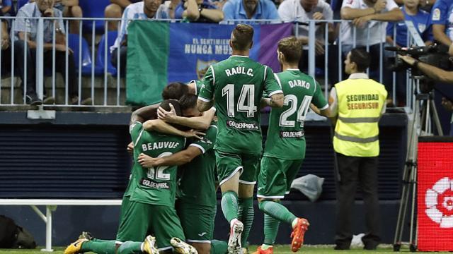 El Leganés vence al Málaga (0-2) y logra tres puntos de oro