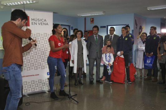 CD Leganes visita el Hospital Severo Ochoa