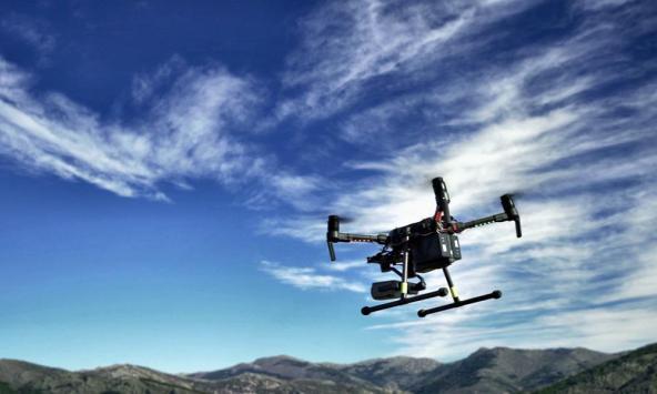 evitar incendios forestales dron