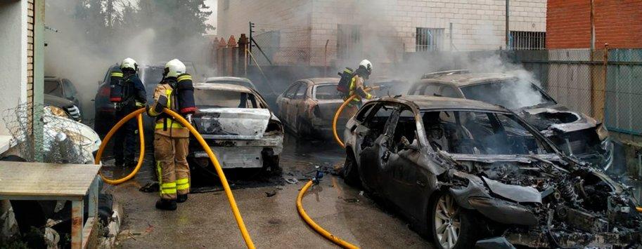 incendio coches leganes