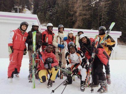2016.01.16 Colle Isarco - Migranti al corso di sci