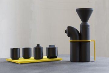 Subsea Coffee par Vera & Kyte Ensemble cafetière, 2015 Matériaux: Métal + 3D print
