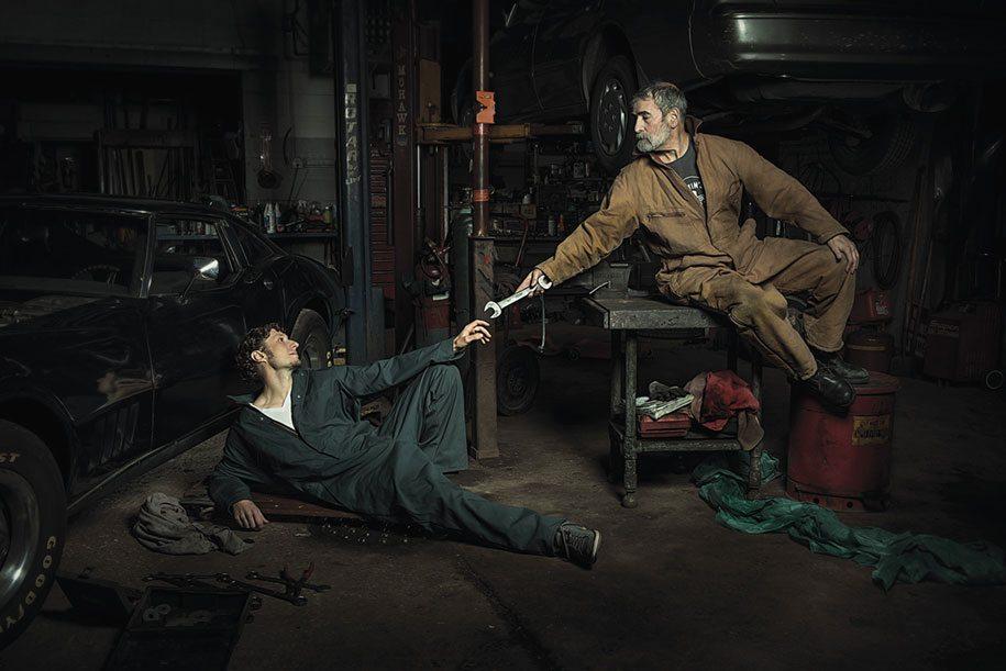 (c) Freddy Fabris - The Creation of Adam by Michelangelo