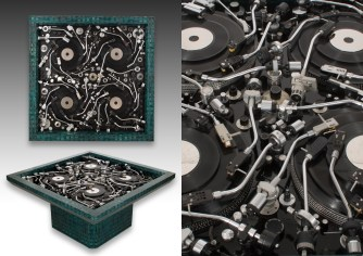 "Rémy Tassou / ""French Touch"" is made of Turntable arms (97x97x47cm - 42kg)"