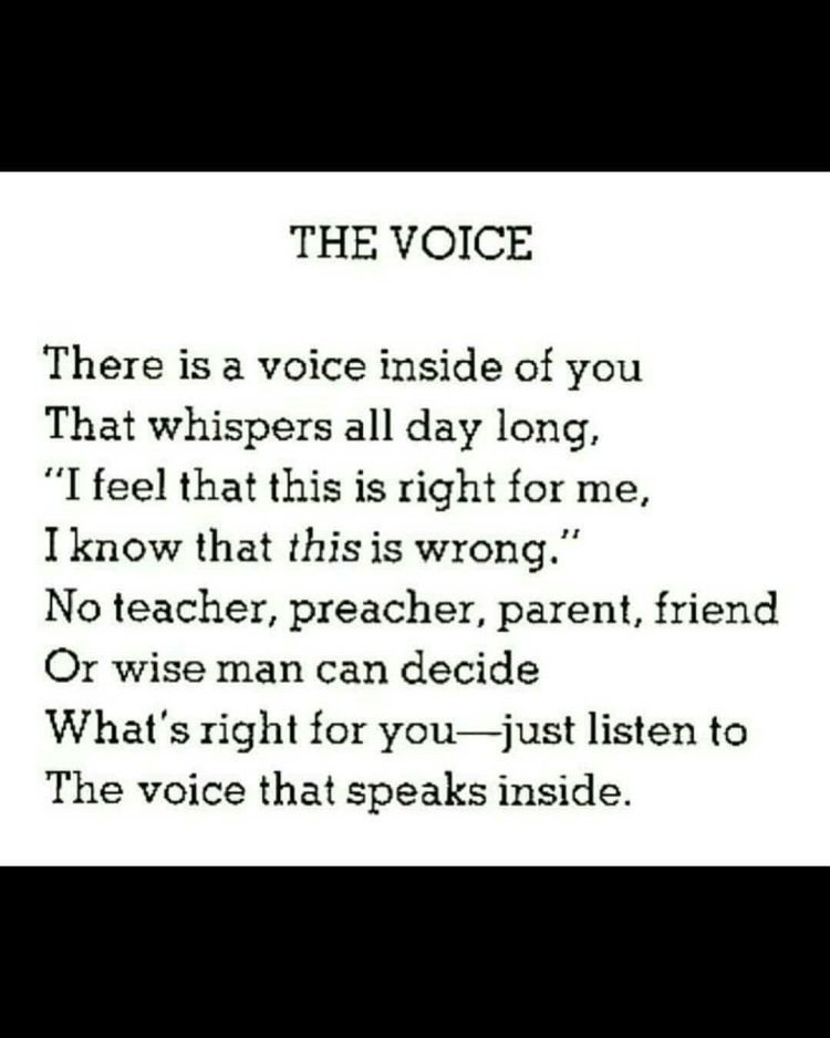 voice in my head