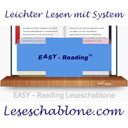 Die Easy Reading Leseschablone hilft beim Lesen lernen und bei Leseproblemen