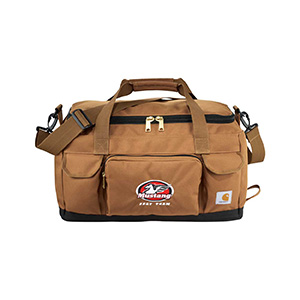 Brown Duffel Bag with embroidery