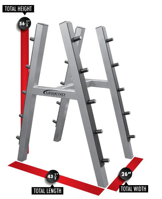ten barbell rack legend fitness