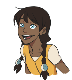 Image of Nami wearing her braids and a yellow and white shirt