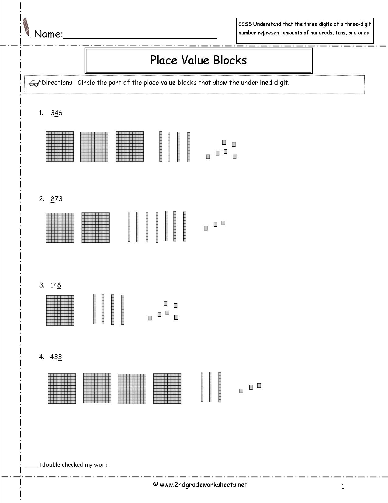 Place Value Hundreds Tens Ones Worksheets Printable