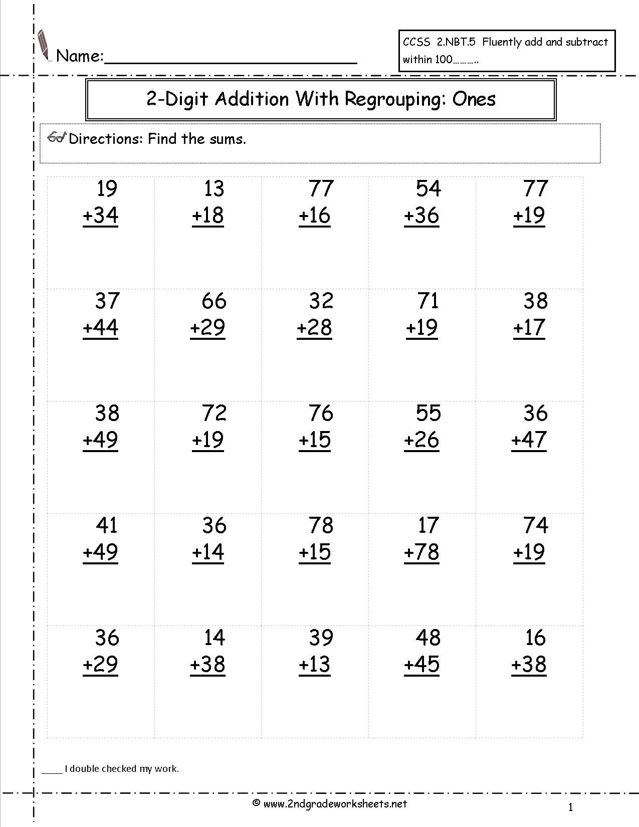 Free Printable Math Worksheets Addition And Subtraction