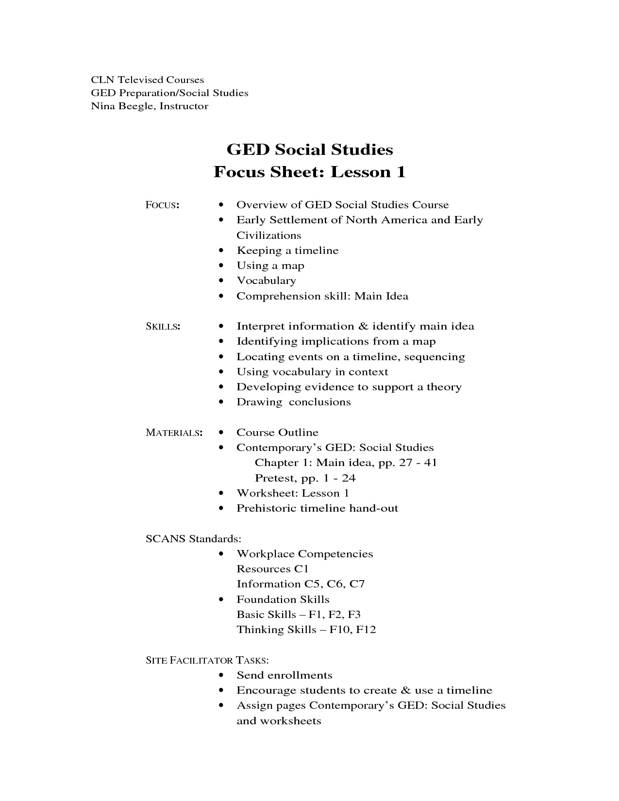 Ged Math Printable Worksheets