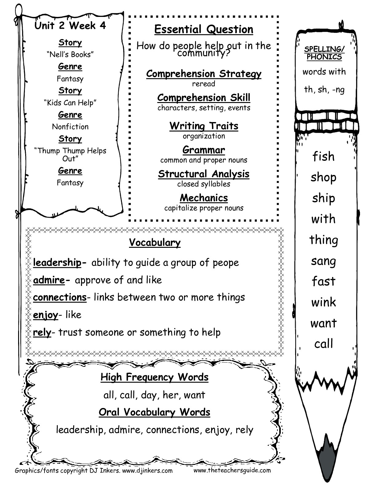 1st Grade Vocabulary Worksheets Printable