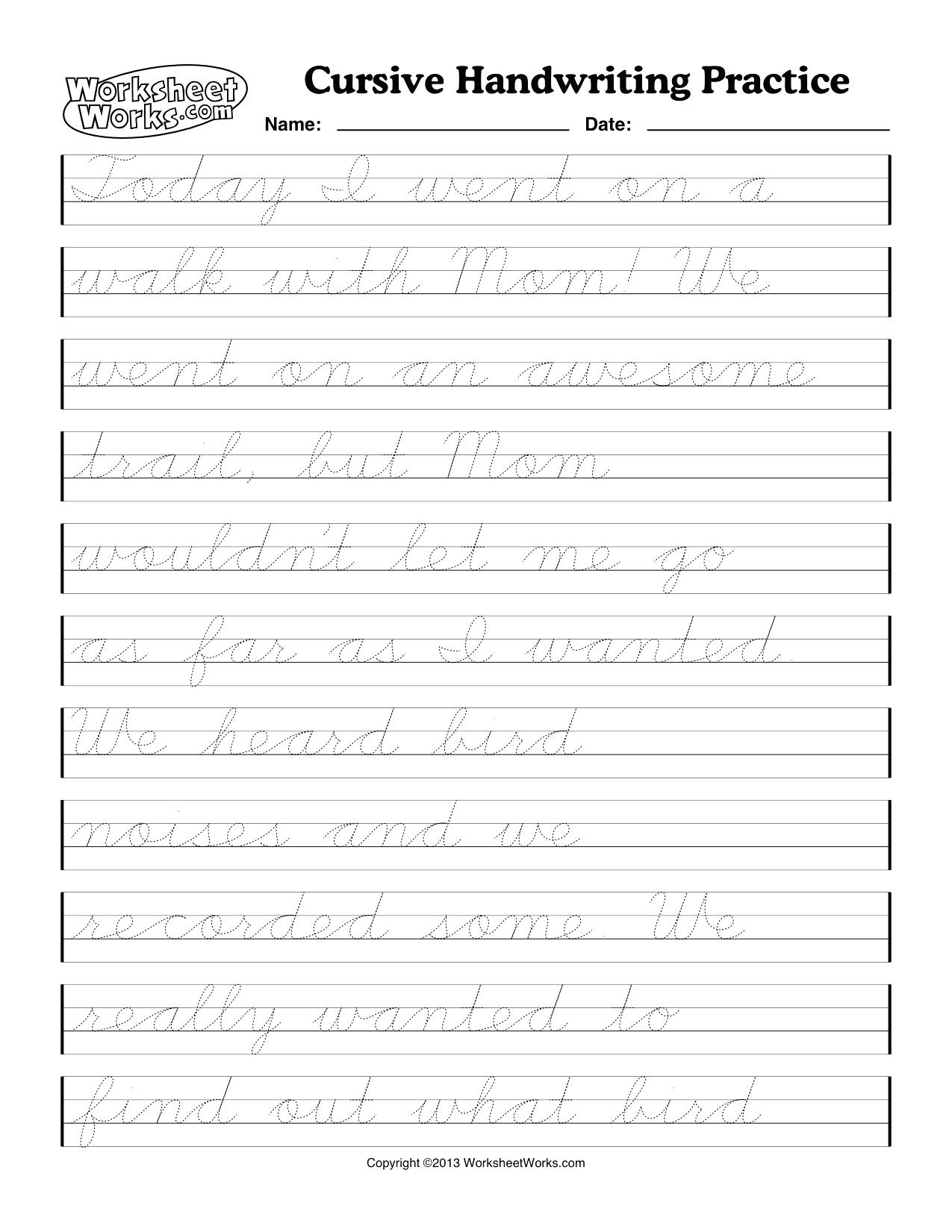 54 Unique Of Free Printable Cursive Handwriting Worksheets