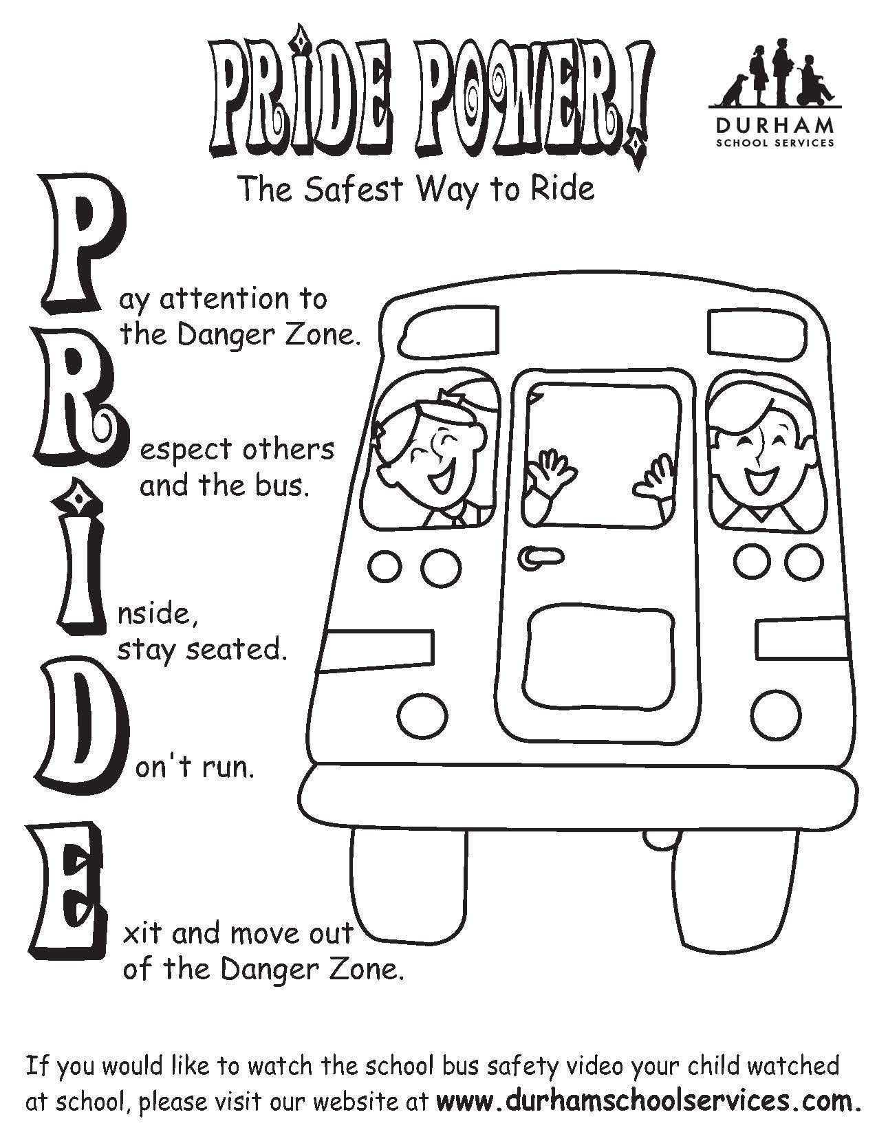 School Bus Safety Rhyme Mini Booklet Back To School