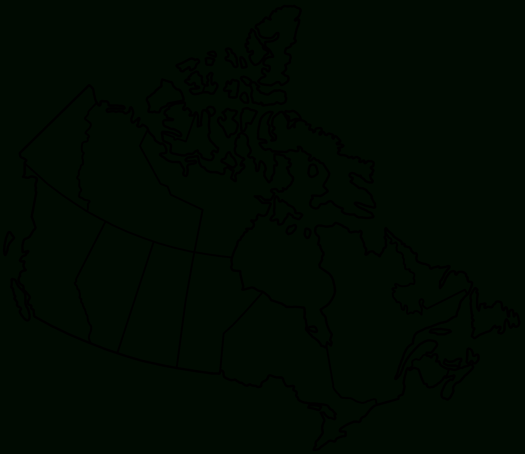 Free Printable Map Of Canada Worksheet