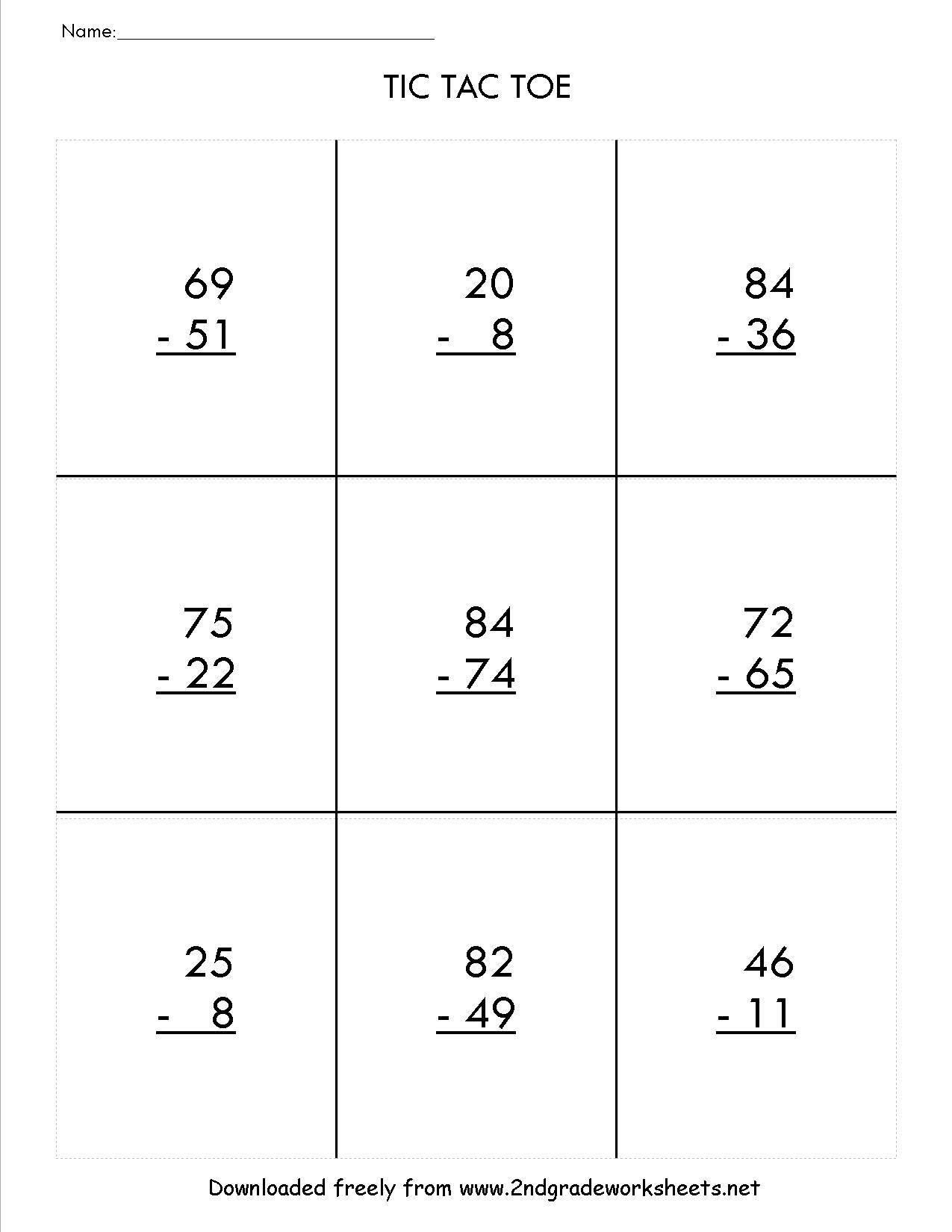 Download Our Free Printable 3 Digit Subtraction Worksheet