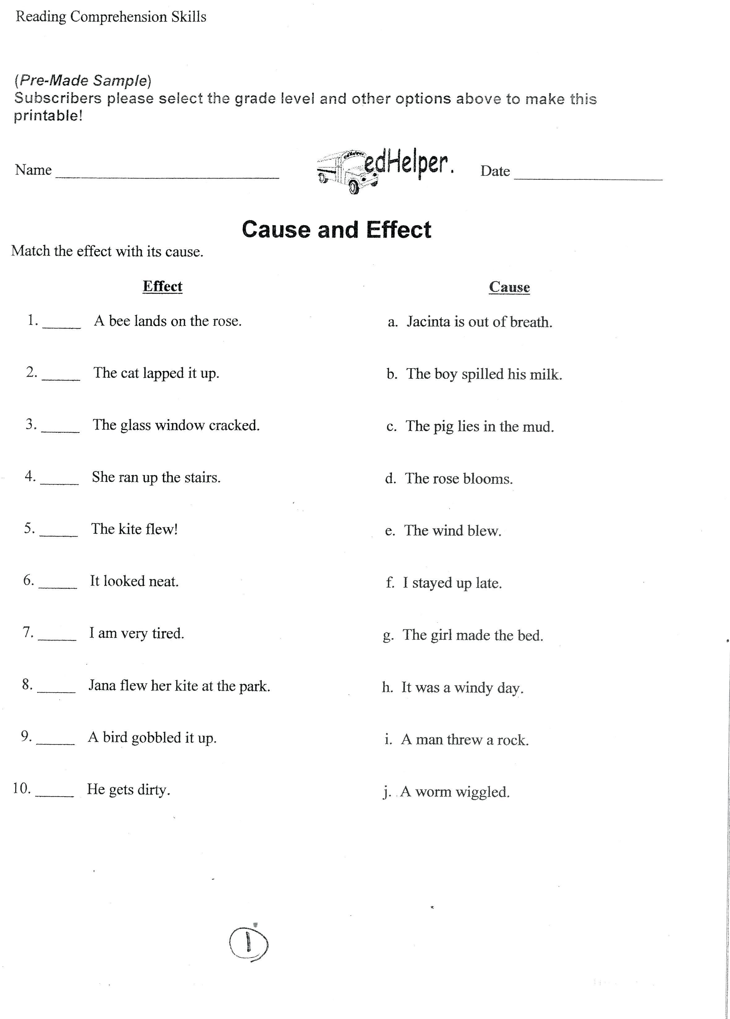 10th Grade Language Arts Printable Worksheets