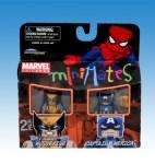 TRU Minimates Series 6 - Battle Damaged Wolverine and Captain America