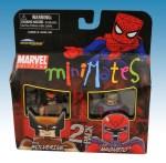 TRU Marvel Minimates Series Nine Brown Wolverine and Magneto