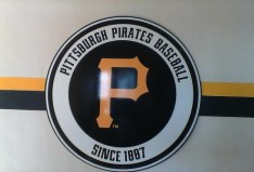 Pirates logo, back of press box