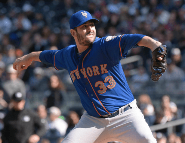 Matt Harvey will make his postseason debut on Monday night in Game 3 of the NLDS against the Dodgers.  (AP)