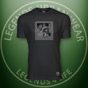 Legends Buffalo Soldiers Men's Black Premium Tee Front