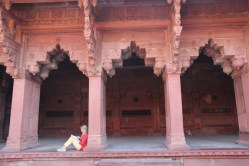 Agra Fort arches