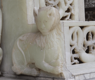 Marble Throne lion