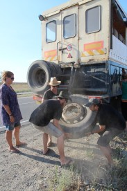 Offloading tyres