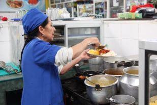 Serving lunch, Kazahkstan