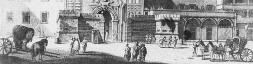 Detail from a View of Porta Colonnella in Livorno (18th c.)