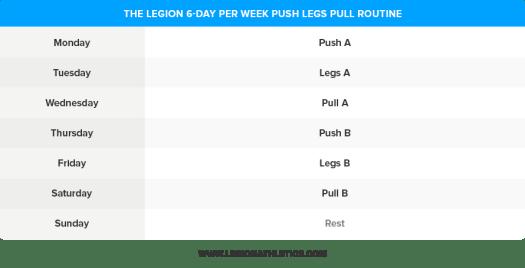 6-Day-Push-Legs-Pull-Routine