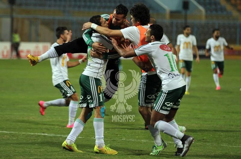Jugadores de Al Masry celebrando