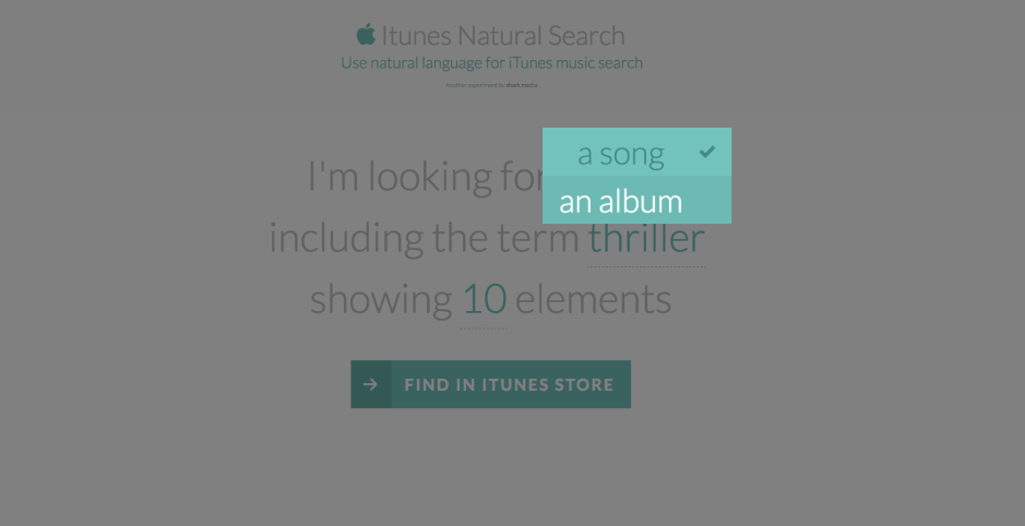 iTunes Natural Search