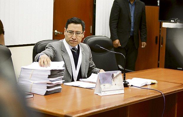 El juez Jaime Coaguila en plena audiencia (Foto: La República).