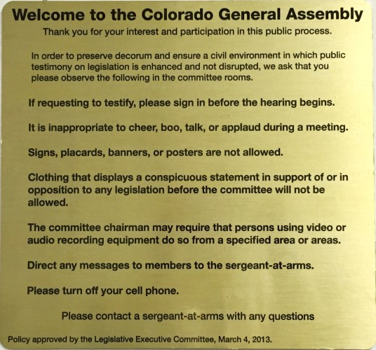 Ensuring Decorum and Civility in the Legislative Committee Hearing Process