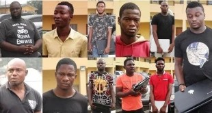 See Photos Of 11 Yahoo-boys Arrested by EFCC In Lagos