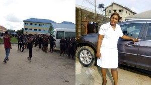 NOVENA University On Rampage As 300l Student Dies Due To Lack Of Bank Facility (Video/Photos)