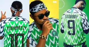 Enny Breezy Vs Wizkid, Who Rocked The Nigerian Nike Jersey Better #NaijaAllTheWay
