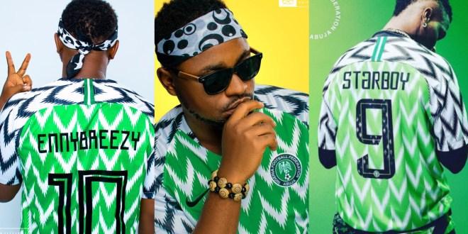 Enny Breezy Vs Wizkid, Who Rocked The Nigerian Nike Jersey Better #NaijaAllTheWay