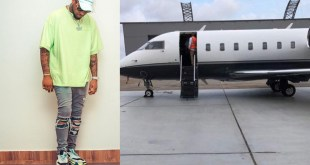 """Another View Of """"Air OBO"""" Davido's New Private Jet"""